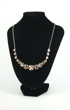 Loft Formal Statement Necklace -- Champagne and Sparkles
