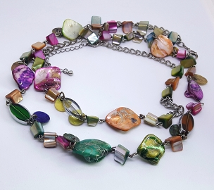 Fun Multicolor Double Strand Necklace