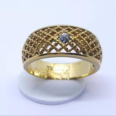 Avon 1978 Lattice Lace Ring, Size 7