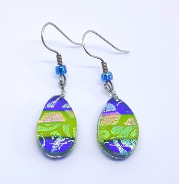 Venetian Style Glass Earrings