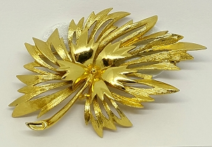 Monet Gold-tone Botanical Brooch