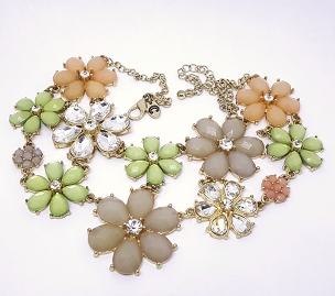 Pastel Floral Statement Necklace - Charming Charlie
