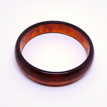 Bakelite Bangle, Rootbeer, 5/8