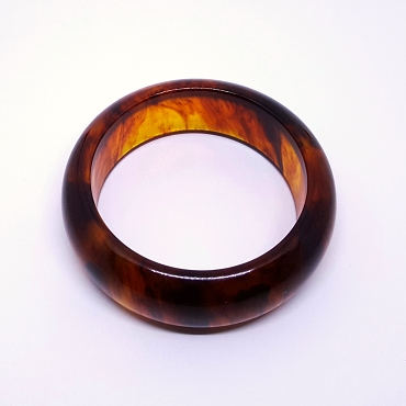Bakelite Bangle, Rootbeer, 1