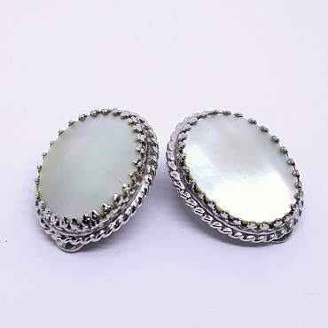 Whiting and Davis Mother of Pearl Earrings